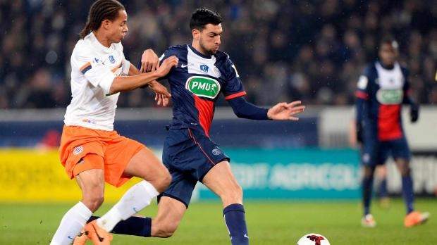 Psg montpellier notes paris se fait voler son tripl - Match psg montpellier coupe de france ...